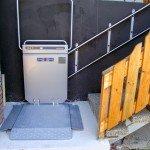 Lift für Rollstuhl schmale Treppe