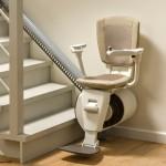 Sitzlift weißer Lederbezug