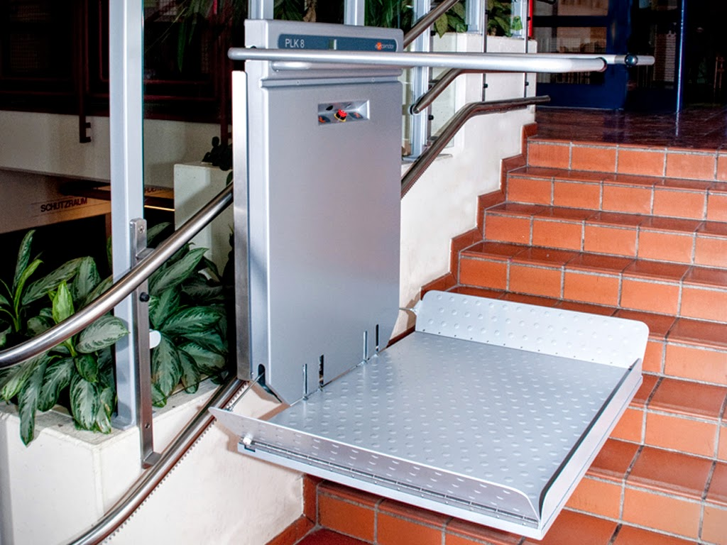 Außen-Treppenlift für Rollstuhl | Bilder und Fotos