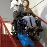Mobile Treppenraupe für Rollstuhlfahrer