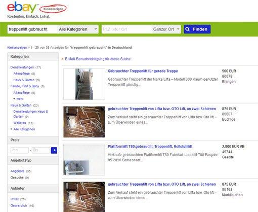 treppenlift bei ebay kleinanzeigen nachteile und vorteile. Black Bedroom Furniture Sets. Home Design Ideas